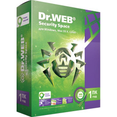 Антивирус Dr. Web Security Space (1 ПК) лицензия на 1 год, базовая (DW-SS-1Y)
