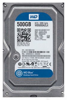 Жесткий диск Western Digital Blue 500GB 7200rpm 32MB WD5000AZLX 3.5 SATAIII