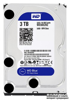 Жесткий диск Western Digital Blue 3TB 5400rpm 64MB WD30EZRZ 3.5 SATAIII