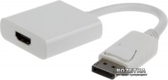 Адаптер Cablexpert DisplayPort to HDMI (A-DPM-HDMIF-002-W)