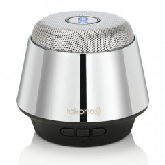 Портативная bluetooth MP3 колонка Rokono B10 Silver (np2738)