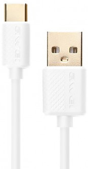 Кабель AWEI CL-89 Type-C cable 1m White