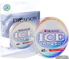 Шнур Dragon Ice Braid 40 м 0.16 мм 15.50 кг Белый (PDF-40-09-016)