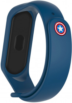 Ремешок ArmorStandart Superhero Edition for Xiaomi Mi Band 4/3 Captain America Blue (ARM55061)