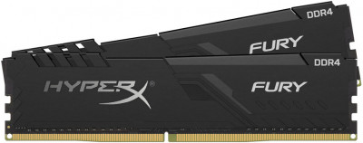 Оперативна пам'ять HyperX DDR4-2666 32768MB PC4-21300 (Kit of 2x16384) Fury Black (HX426C16FB3K2/32)