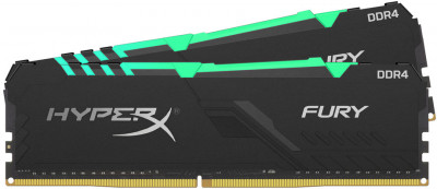 Оперативна пам'ять HyperX DDR4-2666 32768MB PC4-21300 (Kit of 2x16384) Fury RGB Black (HX426C16FB3AK2/32)