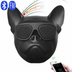 Блютуз колонка Aerobull DOG Head Mini Speakerphone Радио Black (412 V)
