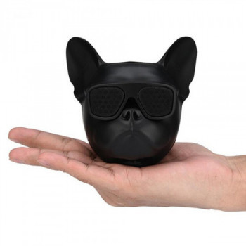 Блютуз колонка Aerobull DOG Head Mini Speakerphone Радіо Black (412 V)