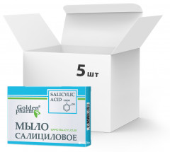 Упаковка мыла Golden Pharm Салицилового 70 г х 5 шт (92214097037417)