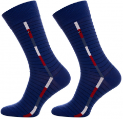 Набор носков Tommy Hilfiger Socks Pop Stripe 2-Pack Men 482011001-085 39-42 2 пары (8718824568447)