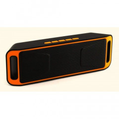 Портативная bluetooth MP3 колонка SPS SC-208 BT Оранжевая