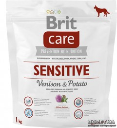 Сухой корм гипоаллергенный с олениной для собак всех пород Brit Care Sensitive All Breed