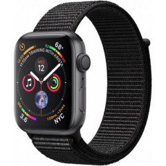 Смарт-часы Apple Watch Series 4 GPS 44mm Space Gray Aluminum Case with Black Sport Loop (MU6E2)
