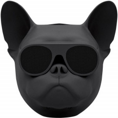 Беспроводная Bluetooth колонка SUNROZ Aerobull Dog Chrome Black