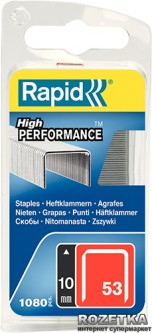 Скобы Rapid Finewire Staples Galva 53/10 1080 штук (40109504)
