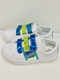 Кеди EVIE shoes Saba 30 White-Blue Neon (122-9K 30)