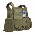 Бронежилет Flyye Molle Style PC Plate Carrier with Pouch Set Khaki (S) (FY-VT-M003-KH) - зображення 1
