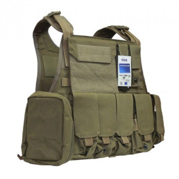 Бронежилет Flyye Molle Style PC Plate Carrier with Pouch Set Khaki (L) (FY-VT-M003-KH)