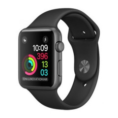 Умные часы Apple Watch Series 2 38mm Space Gray Aluminum Case with Black Sport Band (MP0D2)