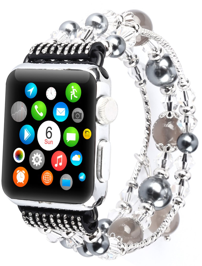 Ремешок XoKo Bracelet Crystal для Apple Watch 38-40mm Black (XK-AP-BRBK)