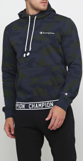 Худи Champion Hooded Sweatshirt cha213648-PTB/ALLOVER S Синее (8056426403248)