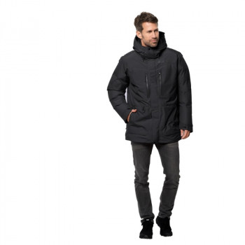 Пуховик NORTH ICE PARKA Jack Wolfskin 1111681-6000 Чорний