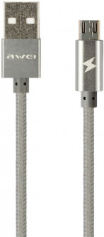 Кабель Awei CL-400 Micro cable 1 м Grey (FSH87179)