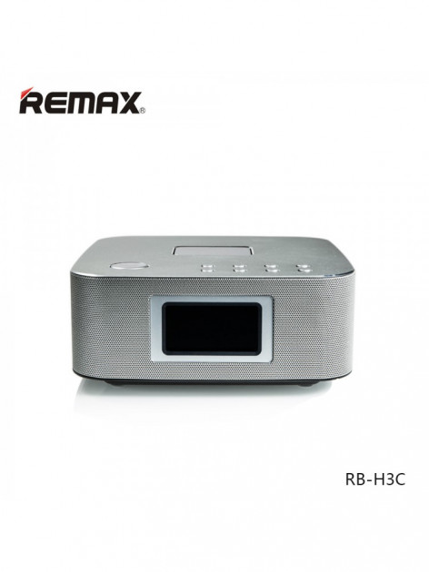 Bluetooth Колонка Remax RB-H3 3 in 1 BT3.0 Speaker with Alarm Clock Silver - изображение 1