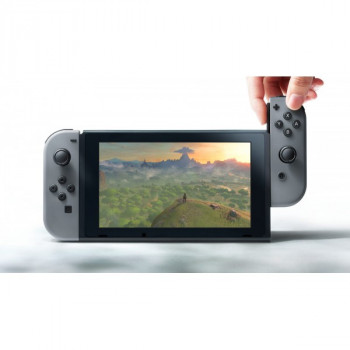 Nintendo Switch Gray (Upgraded version) + Игра Super Smash Bros. Ultimate (русская версия)