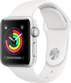 Смарт-часы Apple Watch Series 3 GPS 38mm Silver Aluminium Case with White Sport Band (MTEY2FS/A)