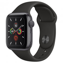 Apple Watch Series 5 GPS 40mm Space Gray Aluminum Case with Black Sport Band (MWV82) + Ремешек Sport Band