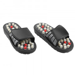 Рефлекторные массажные тапочки Massage Slipper - размер L, (1000391-Black-L)