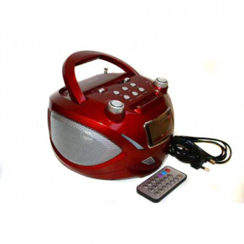 Бумбокс колонка часы MP3 Golon RX 669Q Red (gr_005267)