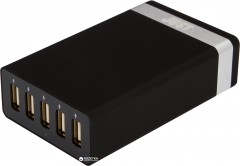 Сетевое зарядное устройство Just Family Quint USB Wall Charger Black (WCHRGR-FMLY-BLCK)