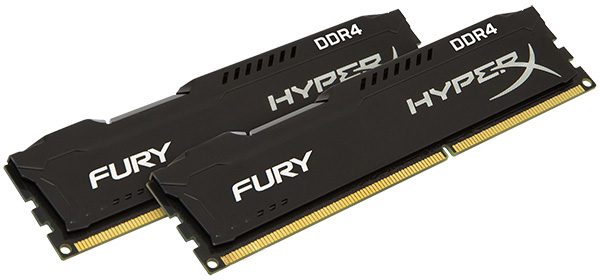 Оперативная память HyperX DDR4-2400 16384MB PC4-19200 (Kit of 2x8192) Fury Black (HX424C15FB2K2/16)