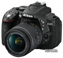 Nikon D5300 + AF-P 18-55mm VR Black Kit (VBA370K007)