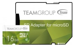 Team Color Card MicroSDHC 16GB Class 10 UHS + SD Adapter (TCUSDH16GUHS43)