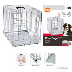 Клетка Karlie Flamingo Wire Cage двухдверная X Large 109х70х76 см (5415245006604)