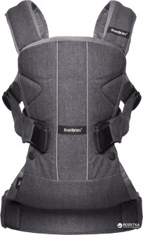 Сумка-кенгуру Baby Bjorn Baby Carrier One Cotton Mix Denim grey (98094)