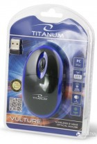 Миша Esperanza Titanum TM116B Wireless Black/Blue - зображення 3