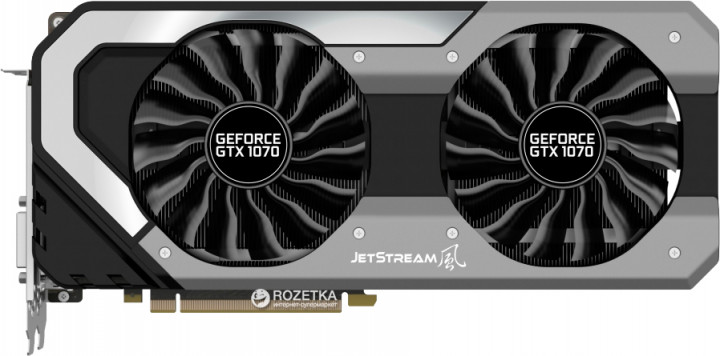 Palit PCI-Ex GeForce GTX 1070 Jetstream 8GB GDDR5 (256bit) (1506/8000) (DVI, HDMI, 3 x DisplayPort) (NE51070015P2-1041J)