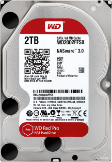 "Жесткий диск Western Digital Red Pro 2TB 7200rpm 64MB WD2002FFSX 3.5"" SATA III"