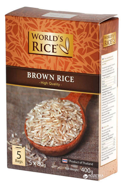 Рис World's Rice Натурал 5 х 80 г (4820009101029)