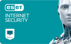 Антивирус ESET Internet Security (2 ПК) лицензия на 1 год Базовая