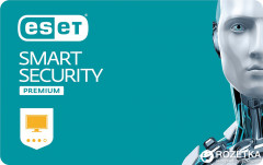 Антивирус ESET Smart Security Premium (1 ПК) лицензия на 1 год Базовая