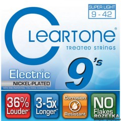Cleartone 9409 Electric Nickel-Plated Super Light 09-42