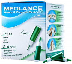 Ланцет MEDLANCE PLUS Extra 200 Green (5907506237129)