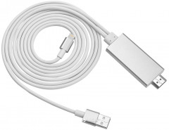Адаптер Dynamode MHL Apple Lightning - HDMI 2 м (MHL-HDMI-iPhone silver)