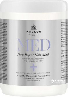 Маска Kallos Cosmetics MED1589 Deep Repair Mask для восстановления волос 1 л (5998889515898)