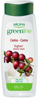Крем-гель для душа Aroma Greenline Yoghurt Shower Cream Camu-Camu 400 мл (3800013536186)